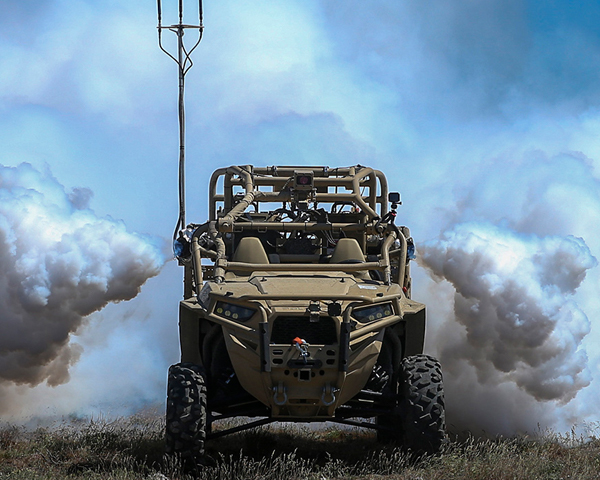 ICRC Humanitarian Law and Policy Blog: Autonomous Weapons Systems: When is the right time to regulate? A Screening Obscuration Module (SOM) attached to a Utility Task Vehicle is autonomously activated. Credit: US Marine Corps. The appearance of U.S. Department of Defense (DoD) visual information does not imply or constitute DoD endorsement