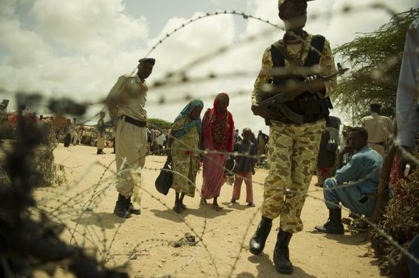 Mogadiscio. Camp de personnes déplacées de Badbaado.